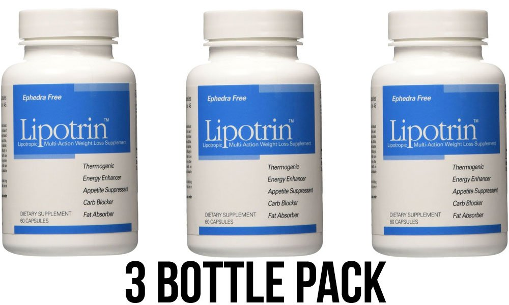 Lipotrin Carb Blocker and Fat Absorber (3 Bottle Pack) 180 Capsules by LipoTrin
