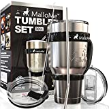 MalloMe Stainless Steel Vacuum Insulated 5-Piece Tumbler Set, 30 oz