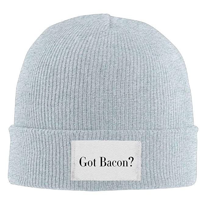 f8e8d3d0ece Image Unavailable. Image not available for. Color  LXXYZ b Adult Hats Got  Bacon Men Women Wool Cap Cool Beanies Knitted Caps Warm Winter