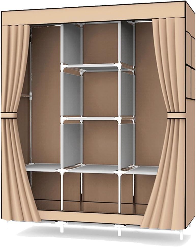 UDEAR Armario de Tela Plegable Ropa Organizador Closet Portátil Guardarropa