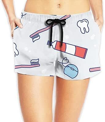 Happy Teeth Dental Care Women Hot Pants Casual Loose