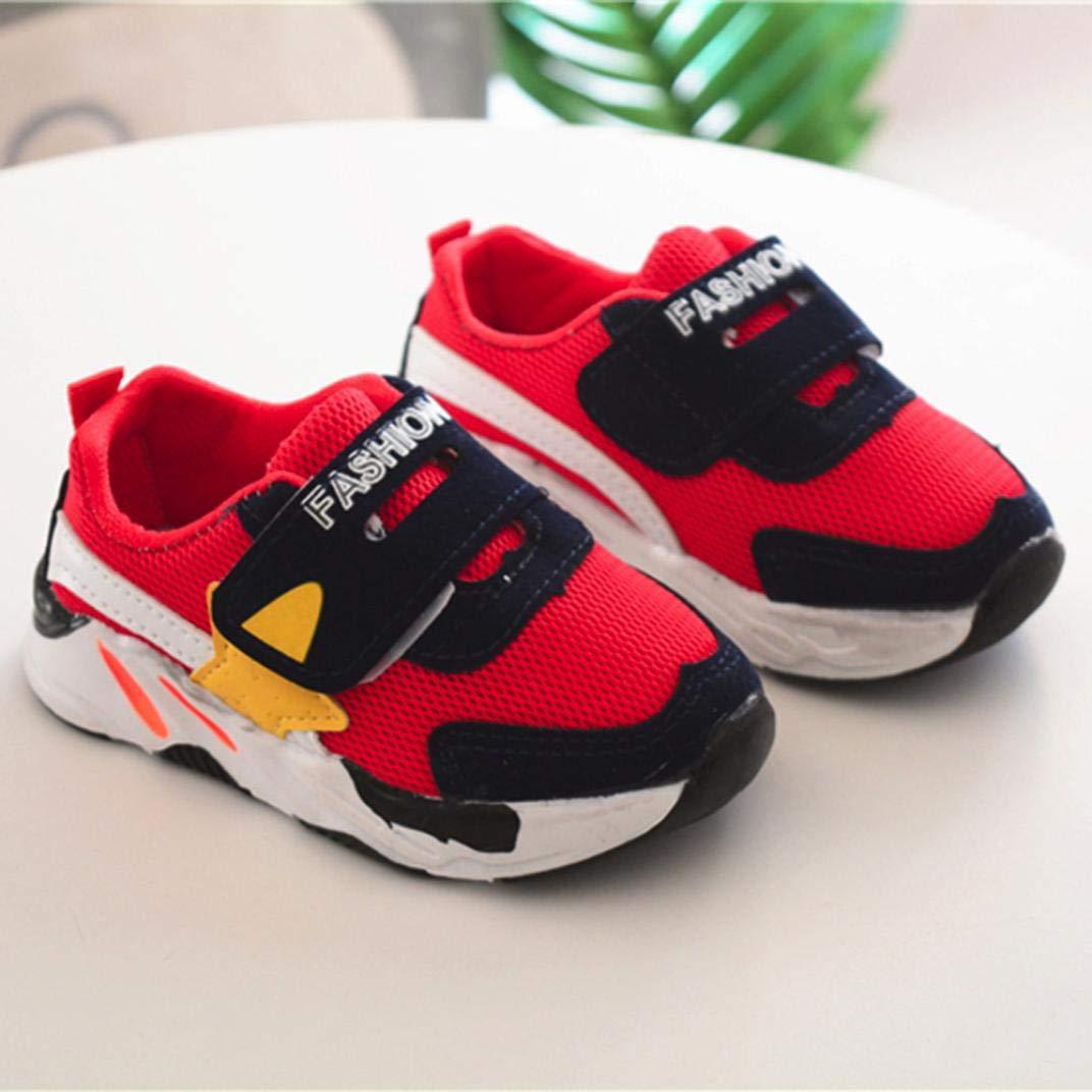 59a0981d4d902 GongzhuMM Coloblock Baskets Basses Mixte Enfant Fille Garcon Mignonne  Chaussures Bebe Maille Respirant Sneakers Chaussures de. Agrandir l image