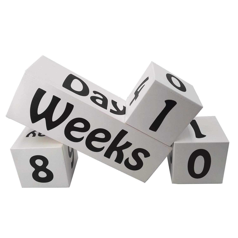 PAMBO Baby Age Monthly Milestone Blocks