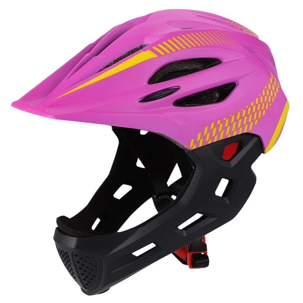 キッズヘルメット ダイヤルフィット調整機能付き 360度コンフォートシステム お求めやすく価格改定  青少年用サイズ および子供用 45-55cm B07Q34QJCK の軽量マイクロシェル自転車ヘルメット 入手困難 Pink Color :