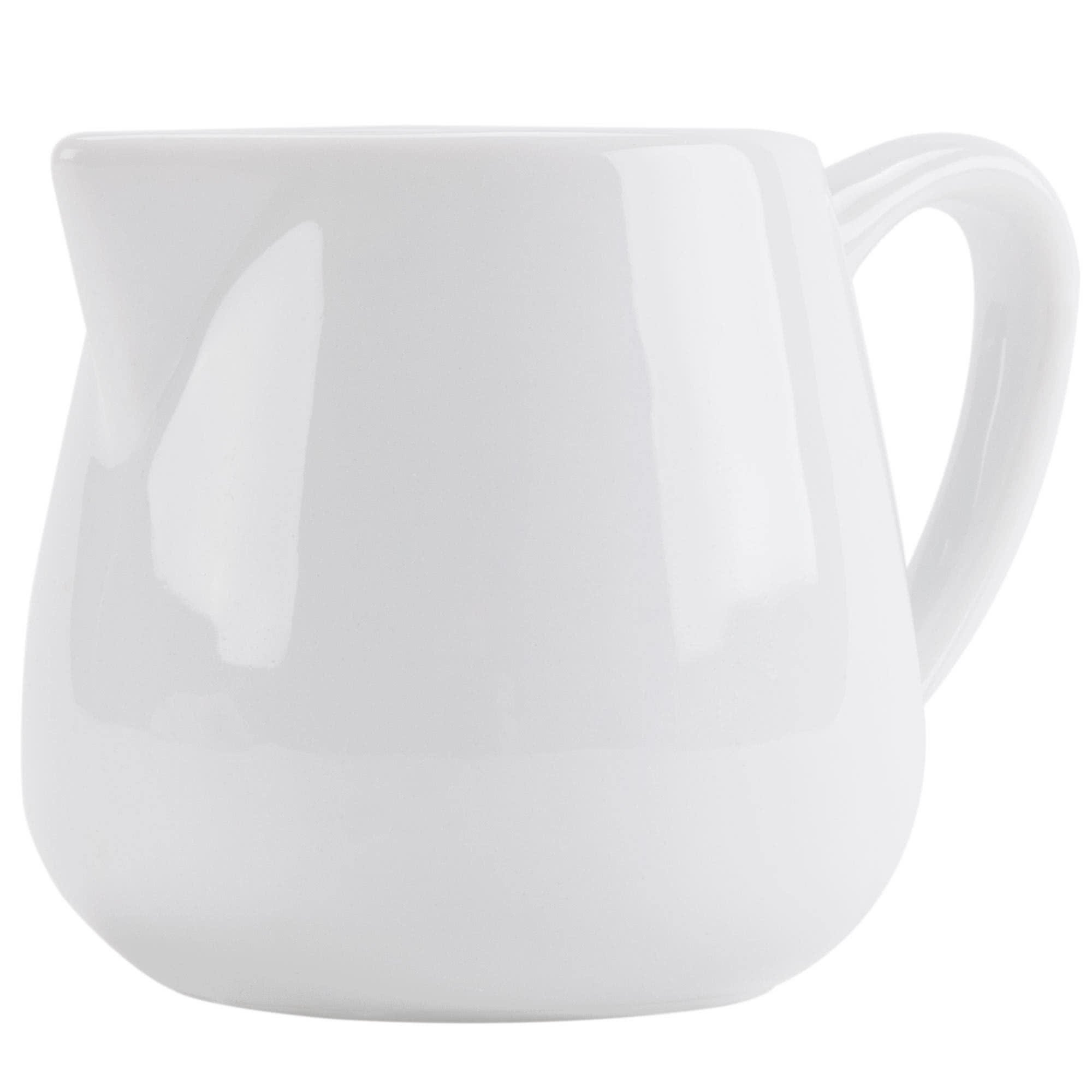 Tabletop King PC-404 Bright White Porcelain 2.5 oz. Creamer with Handle - 36/Case