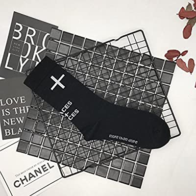 Wanglele Un couple de noir et blanc en Chaussettes Chaussettes Chaussettes de tube transversal absorbant désodorisant respirant et un couple de frottement contre dix paires de chaussettes