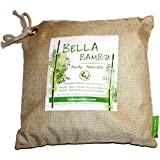 Bella Bambu Activated Bamboo Charcoal Bag – 100% Natural Air Freshener, Purifier, Deodorizer, and Odor Absorber for the home, office, car, and more. 550 grams (purifies up to 275 square feet) Beige