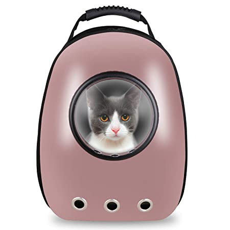 Nova Microdermabrasion Pet Cat Carrier Backpack Space Capsule Bubble Design Backpack for Cats and Dogs, Waterproof