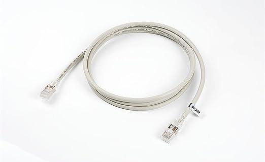 Cable de Ethernet RJ45 blindado Cable redondo Patch Cable CAT6 FTP Cable de red Cable de conexión, color gris, 1 pieza: Amazon.es: Electrónica