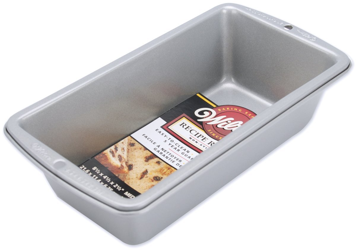 8 1//2 x 4 1//2 Wilton Recipe Right Medium Bread Loaf Baking Pan