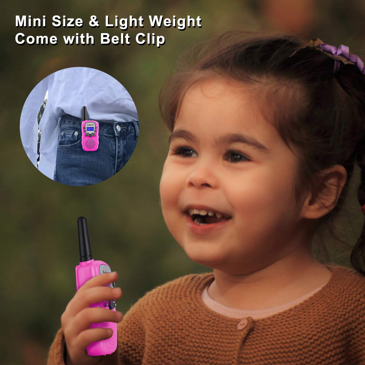 Funkprofi Walkie Talkies for Kids, VOX Hands Free Noise Canceling Kids Walkie Talkies with Belt Clip and LCD Screen, 22 Channels Long Range Two Way Radios for Camping Hiking Family Activities by Funkprofi (Image #5)
