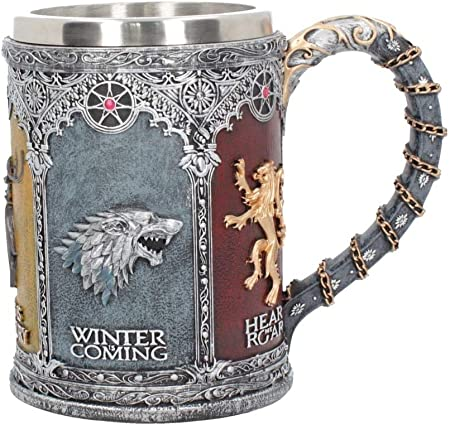 Juego de Tronos licencia oficial Krug,Diseño: cresta 3D de las casas Stark, Targaryen, Lannister, Ba
