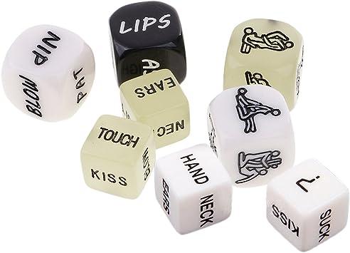 Sharplace 8 Piezas Dados de Amor Regalo de Juguete Divertido para Parejas: Amazon.es: Juguetes y juegos