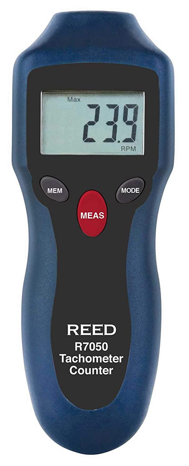 REED Instruments R7050 Compact Photo Tachometer and Counter