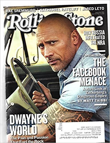 Rolling Stone Magazine (April 19 2018 - May 3, 2018) Dwayne Johnson Cover