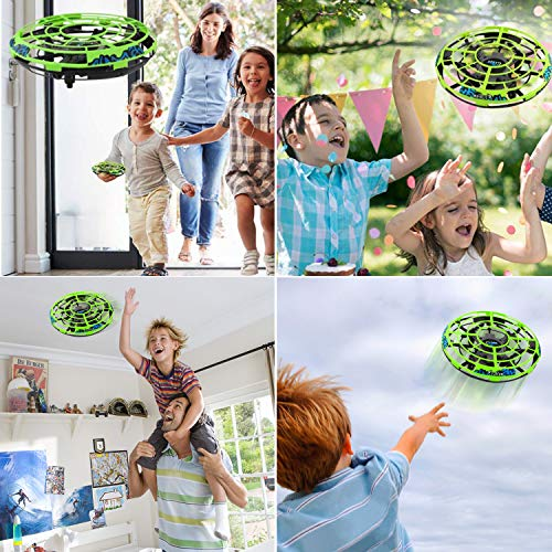 Flying Ball RC Mini Drone Flying Toys Birthday Gifts for Kids Boys Girls Airplane UFO Shape Outdoor Play Toys Remote Control Interactive Infrared Induction Helicopter Flying Saucer Toys 360° Rotating by TURNMEON    (Image #4)