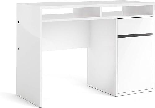 Tvilum Willis Drawer, 1 Door Desk, White High Gloss