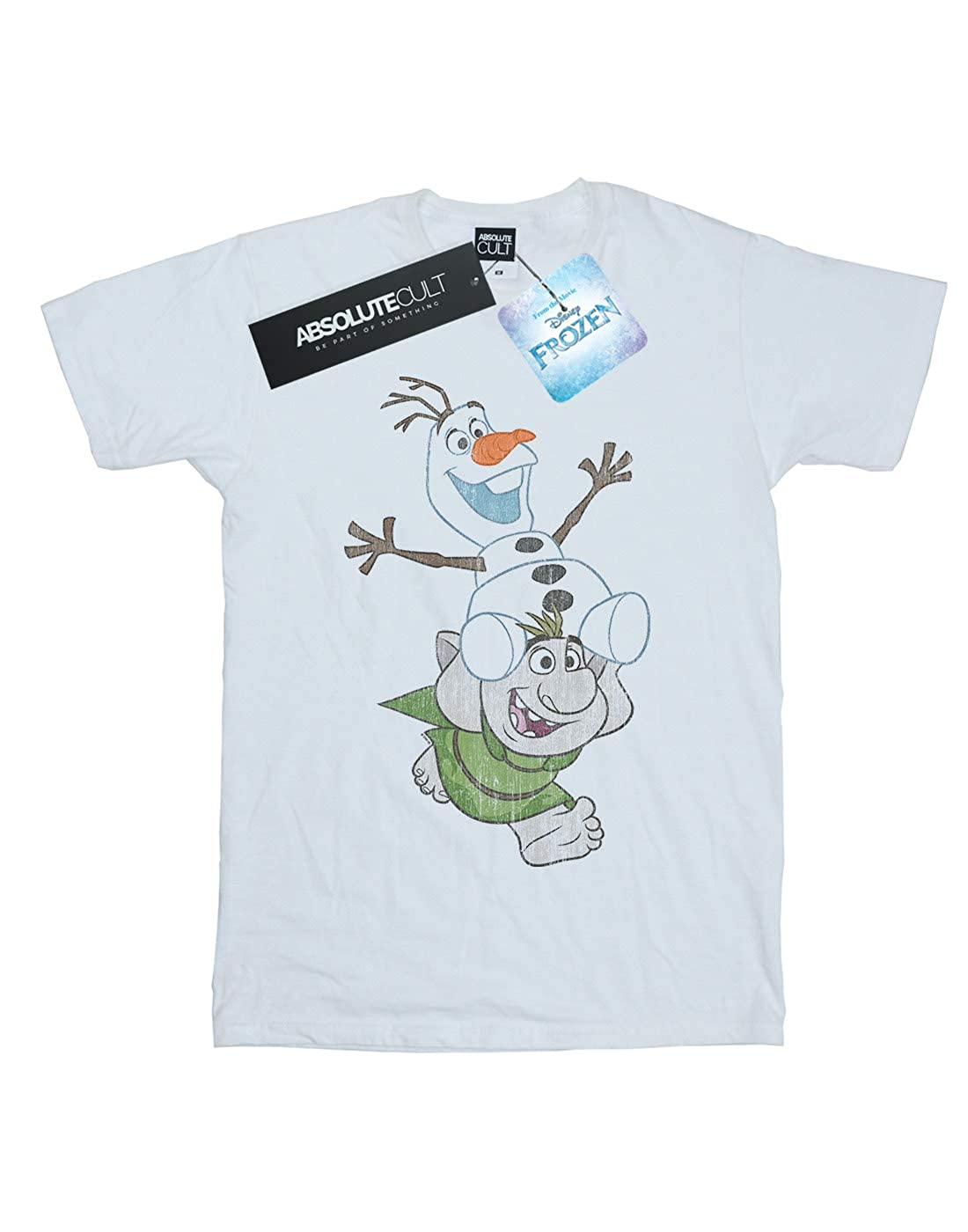 Disney Boys Frozen Olaf and Troll T-Shirt