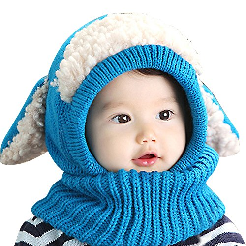 IMLECK Magnificent Baby Unisex-Warm Puppy Cloak Scarf Shawl Baby Infant Smart Hat - 2019 Best Gift in USA Blue