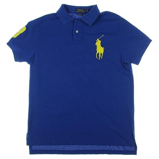 Ralph Pony Sapphire Lauren Polo Big Fit Men's Meshnavy Custom vYby6gf7