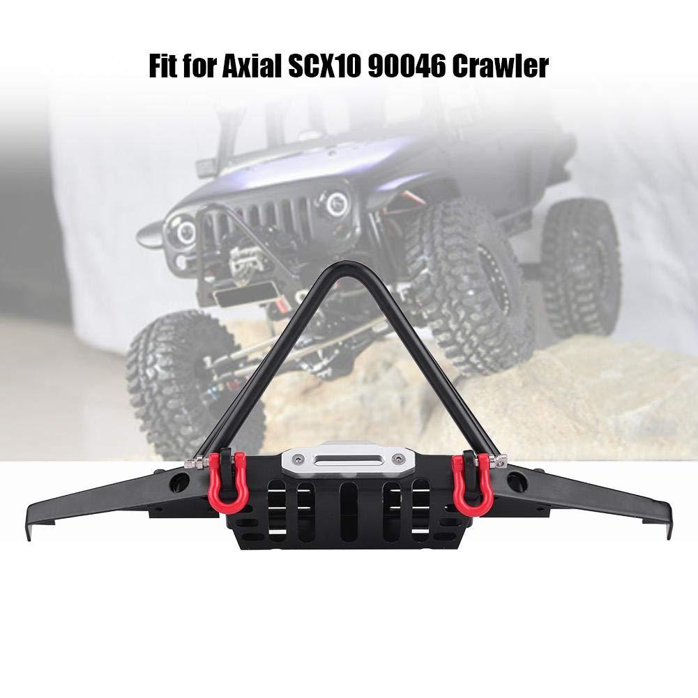 Dilwe Paraurti RC Auto paraurti Anteriore RC Crawler con luci a LED per Axial SCX10 90046 Auto Telecomando