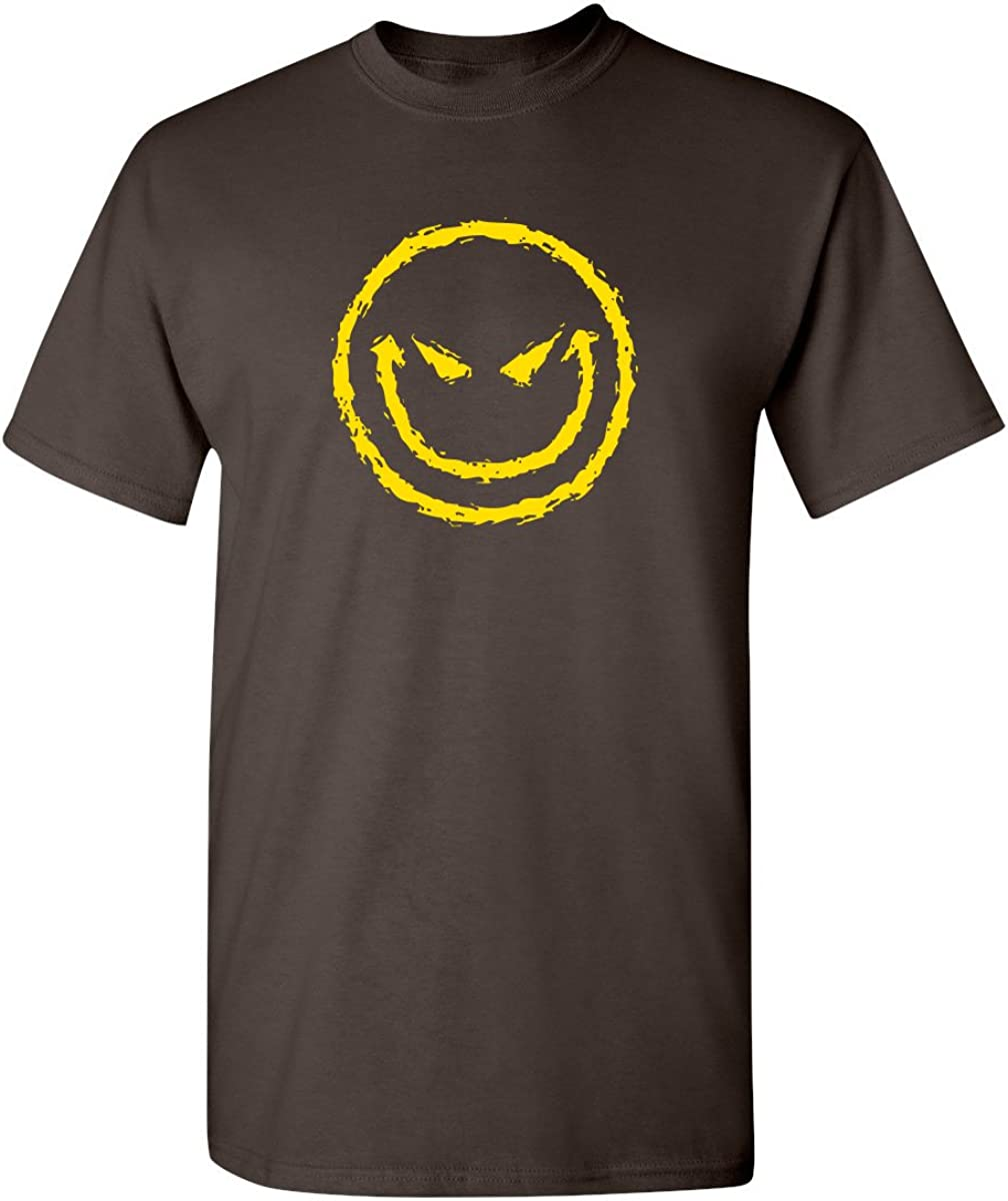 Evil Smile Face Adult Humor Mens Graphic Novelty Sarcastic Funny T Shirt