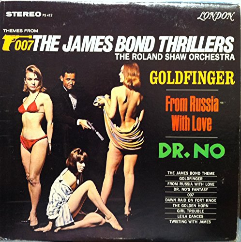 Original album cover of ROLAND SHAW ORCHESTRA 007 james bond themes thrillers LP Used_VeryGoodPS 412 Vinyl 1965 by James Bond themes