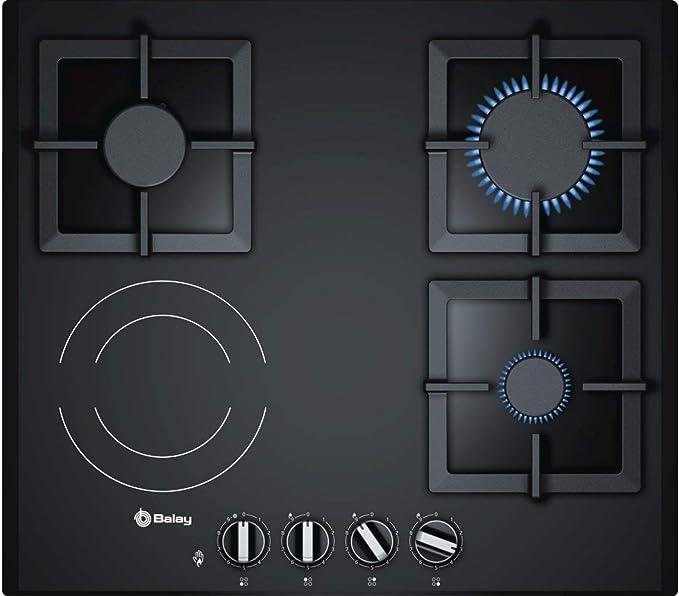 Opinión sobre Balay 3ETG667HB hobs Negro Integrado Combi - Placa (Negro, Integrado, Combi, Cerámico, 1000 W, 1750 W)