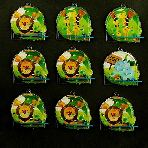 Mini Pinball Maze Game 24 Pack - Classic Animal Maze Pinball Games - Party Favor Includes 4 Animal Style (Halloween Party Games For Older Kids)
