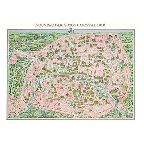 1000ピース of B00ECGNJXS ジグソーパズル Piatnik 48×68cm パリ Plan of Paris 1910 48×68cm 5428 B00ECGNJXS, ネットdeまつやま:23bcf894 --- sharoshka.org