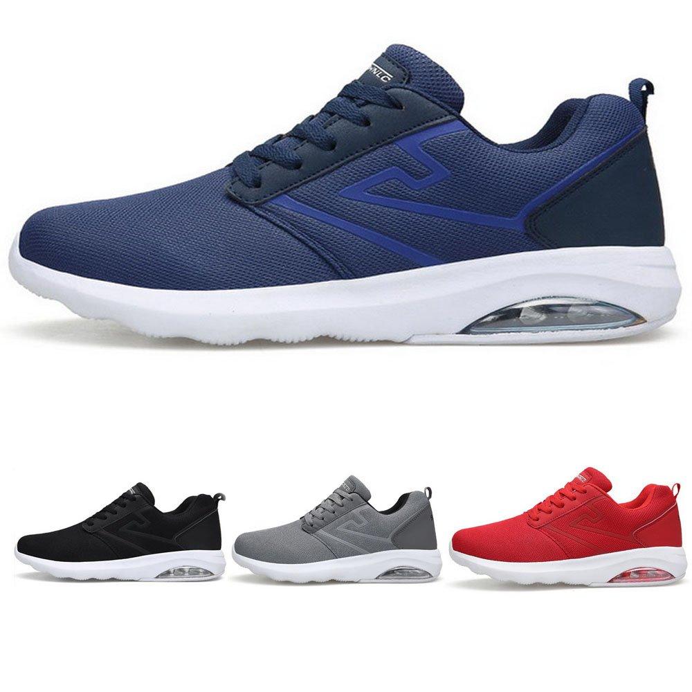 Pscownlg Men Running Shoes Air Cushion Lightweight Mens Sneakers Walking Shoes (11, GRAR)