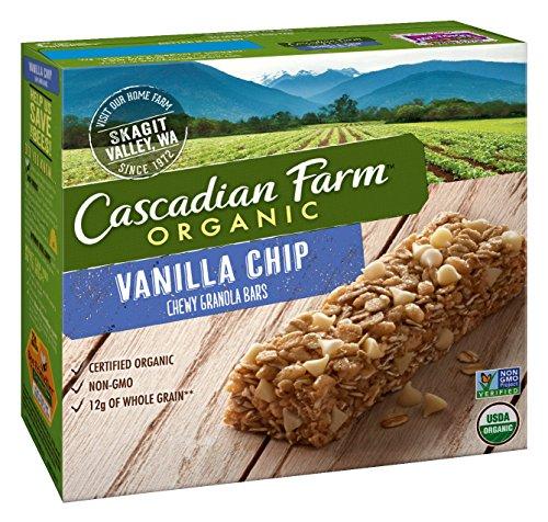 Cascadian farm organic granola bars vanilla chip chewy