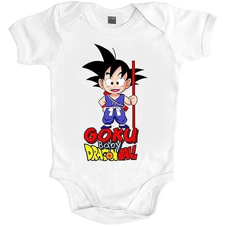 Body bebé Dragon Ball baby Goku - Blanco, 6-12 meses