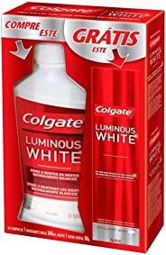 Enxaguante Bucal Colgate Luminous White 500ml Promo Grátis 1 Creme Dental