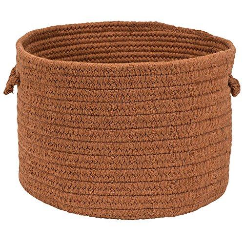 Colonial Mills Softex Check Utility Basket, 14 by 10-Inch, Cafe Tostado (Check Tostado)