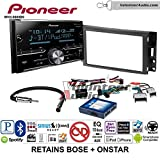 Pioneer MVH-S600BS Double Din Radio Install Kit with Bluetooth USB/AUX Fits 2005-2013 Chevrolet Corvette, 2006-2009 Hummer H3 (Bose and Onstar)