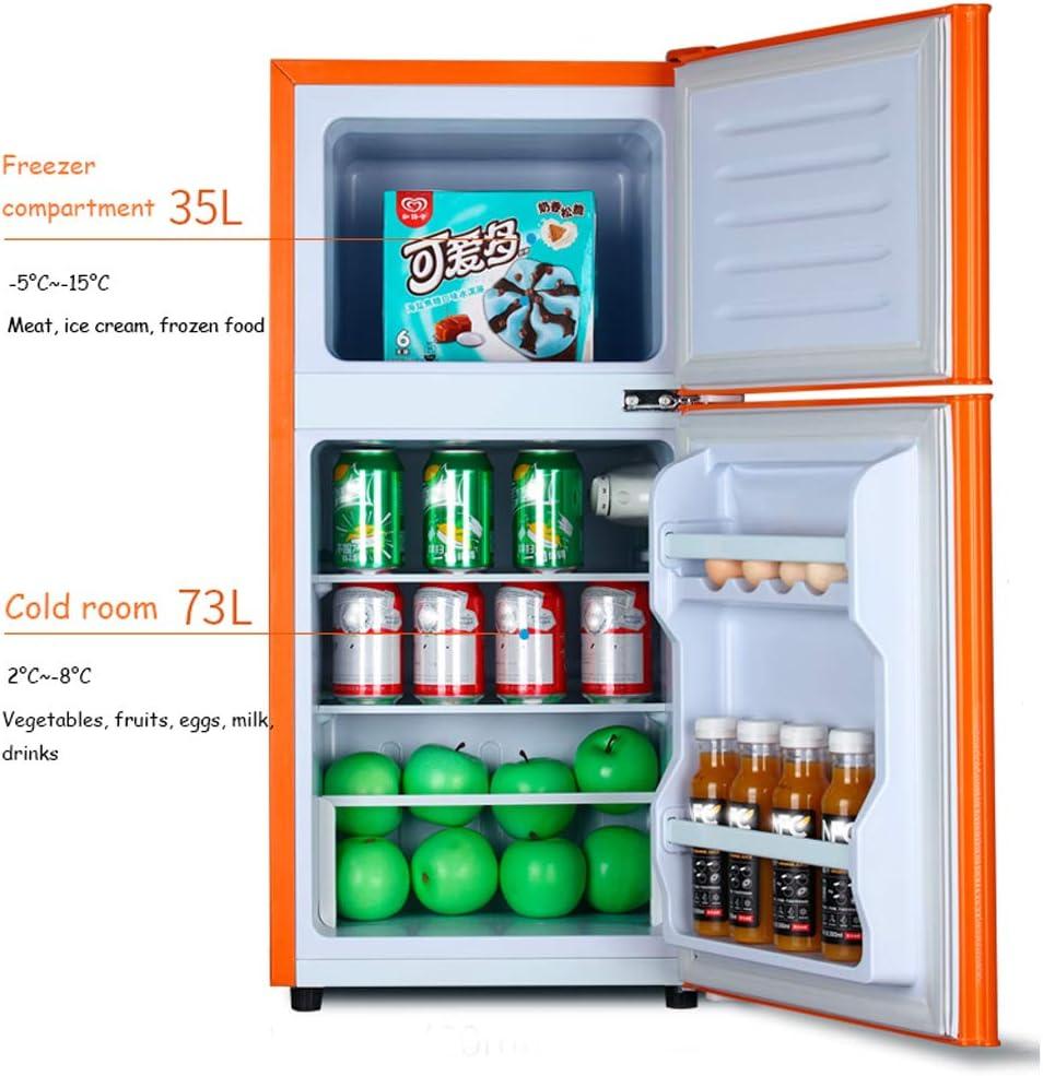 Mini-nevera Lxn Refrigerador y congelador Compacto de Doble Puerta ...