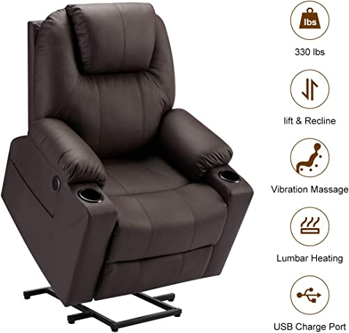 Esright Electric Power Recliner Lift Chair Faux Leather Electric Recliner