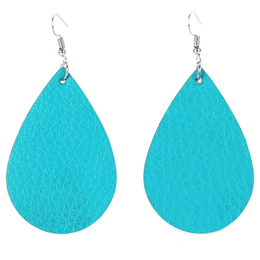 XBKPLO Earrings for Women's Dangling Wild Creative Drop-Shaped Alloy Round Earrings Lady Fine Fashion Trend Jewelry Gifts