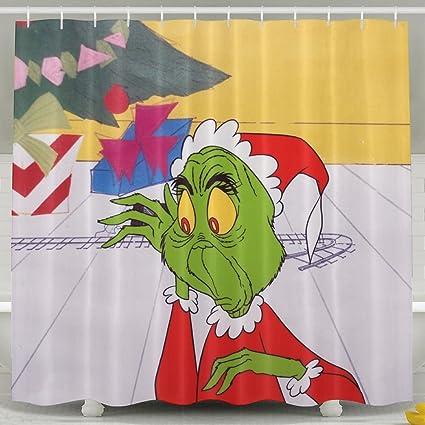 The Grinch Stole Christmas Bathroom Shower Curtain Waterproof Bath