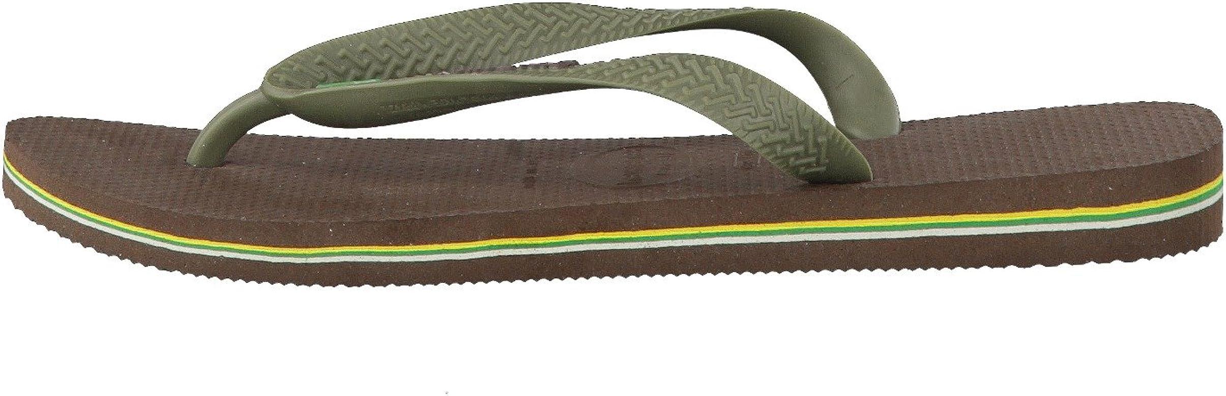 Havaianas Brasil Logo, Chanclas Unisex Adulto, Multicolor (Dark Brown), 41/42 EU: Amazon.es: Zapatos y complementos
