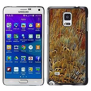 Smartphone Rígido Protección única Imagen Carcasa Funda Tapa Skin Case Para Samsung Galaxy Note 4 SM-N910F SM-N910K SM-N910C SM-N910W8 SM-N910U SM-N910 Fur Close Enlarged Modern Random Art / STRONG