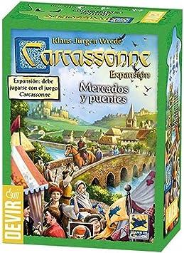 Devir - Carcassonne mercados y Puentes, Juego de Mesa (BGCAMPU ...