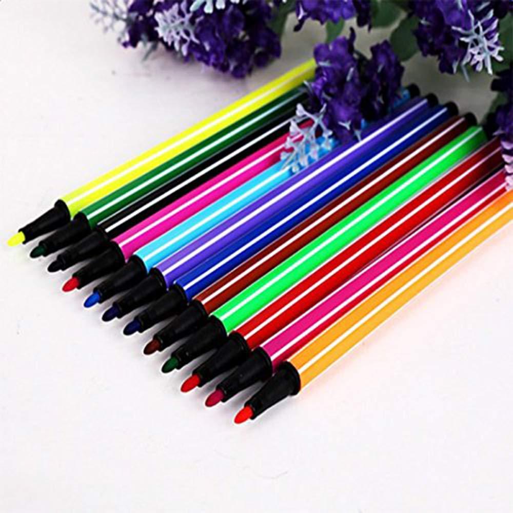 Xeminor Stockton Pens-Felt Tip Fine 12 Colors Fluo