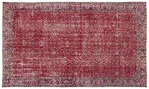 Nakkas Antique Handwoven Kilim Vintage Area Rug Naturel 5'4'' X 9'3''