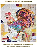 rooster quilt pattern - Doodle-Doo Rooster Collage Wall Hanging Quilt Pattern by Fiberworks