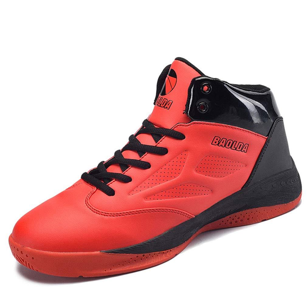 YAN Unisex Schuhe 2018 Sport Laufschuhe Laufende Athletische Trainer Lässige Mode Turnschuhe Leichte Atmungs Gym Fitness Blau, Schwarz, Rot (Farbe : Rot, Größe : 40)