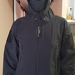YFNT Impermeable Militar táctica Lucha contra la Chaqueta de Softshell Camping al Aire Libre Caminar Camuflaje Hoodie Coat: Amazon.es: Deportes y aire libre