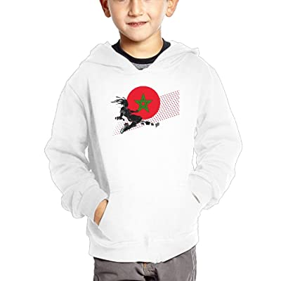 2018 Play Football Morocco Girl Kids Cotton Sweatshirts Casual Pullover Hoodies with Pocket