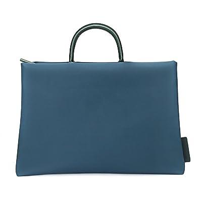 13 Inch Laptop Tote Bag, EKOOS Water-resistant Nylon Laptop Business Briefcase Handbag Carrying Bag Laptop Sleeve With Handle for Macbook Pro / Notebook Women/Men ( Dark Green )